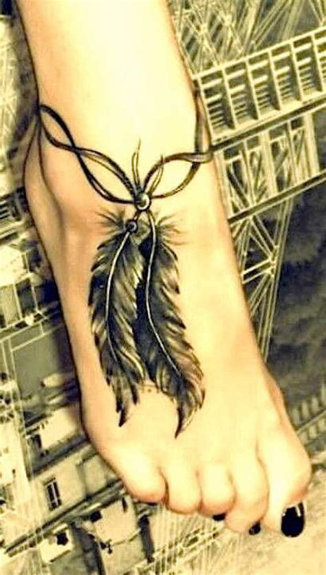 feather foot tattoo 81 adorable ankle tattoos designs for