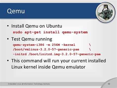 tutorial qemu ubuntu building embedded linux full tutorial for arm
