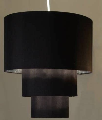 two tier l shade three tier shade black with silver lining