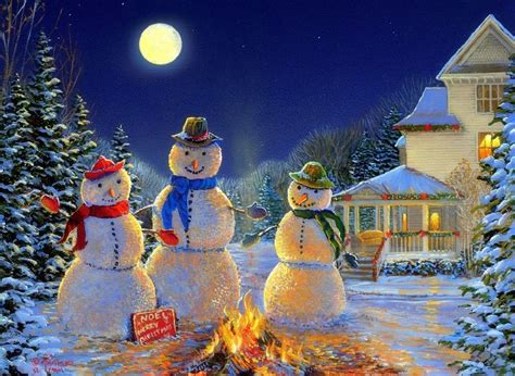 Attractive Bulk Led Christmas Lights #3: 4-led-lights-free-shipping-Christmas-Wall-Art-Canvas-Print-streched-3-snowman-painting-under-the.jpg