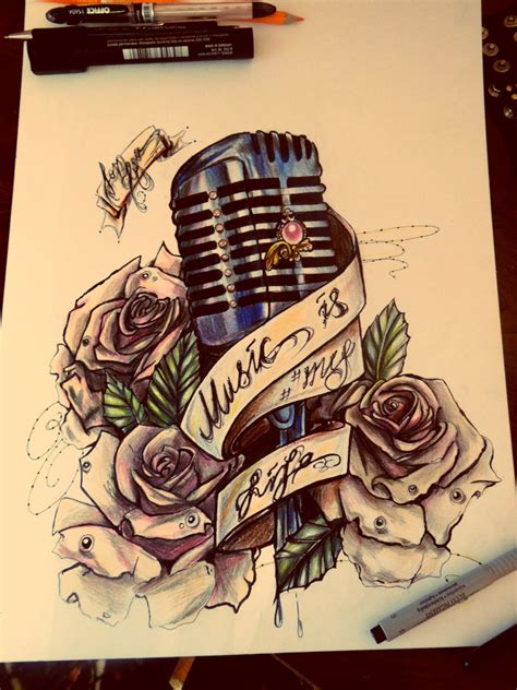 old fashioned microphone tattoo designs microphone www pixshark images