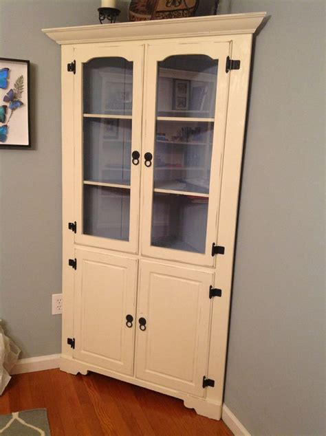 a hutch cabinet for the kitchen nook margarete miller refinished corner hutch with annie sloan chalk paint my