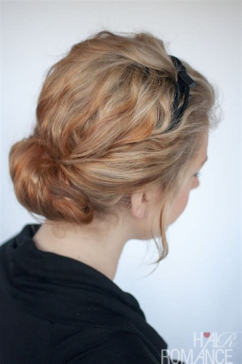 headband curly hairstyles curly hairstyle tutorial rolled headband updo hair romance