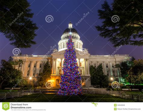 sacramento capital christmas decorations capitol tree royalty free stock photos image 34942848
