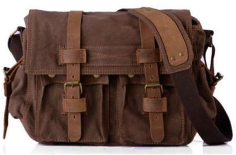 leather & canvas messenger bag for school, only $69.99