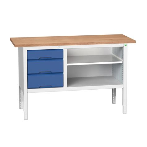 open storage bench 1500mm verso storage bench 3 drawers and open section bott workplace