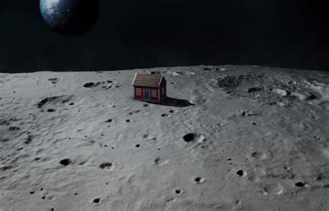house on the moon meet the artist who wants to build a little red house on the moon huffpost