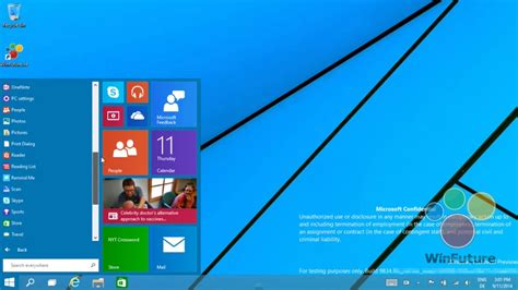 start menu layout windows 8 windows 9 video leaks shows the start menu in action