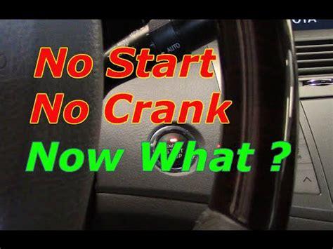 crank  start push button ignition  toyota avalon