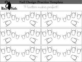 Nail Templates by Nail Design Practice Sheet Versions