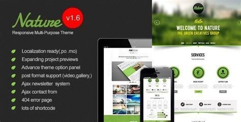 themes wordpress nature all themes in one download nature responsive onepage