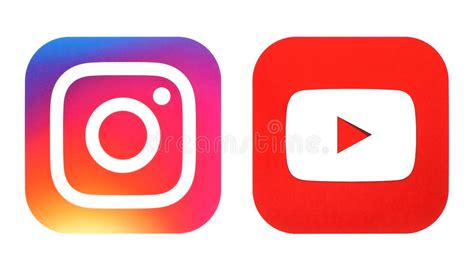 cool home design instagram instagram new logo and youtube icon printed on white paper