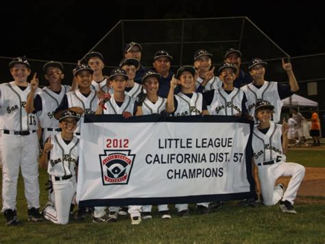 San Ramon Little League All Stars Section 3 Tournament