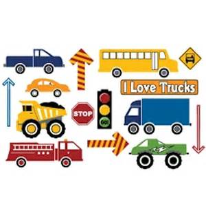 Fireman Wall Stickers pictures of trucks for kids cliparts co