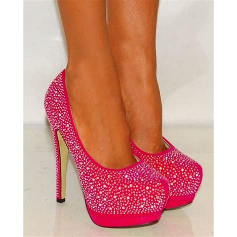 High Heels Pink B pink high heels swarovski rhinestones
