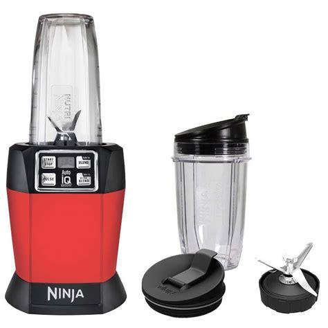 ninja kitchen appliances ninja auto iq nutri ninja 1000w blender red bl483