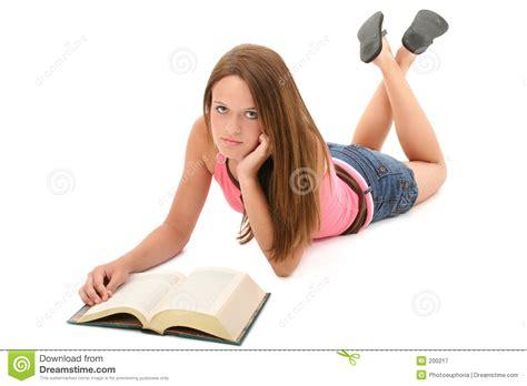 teen 14 year old beautiful 14 year old teen girl reading book royalty free