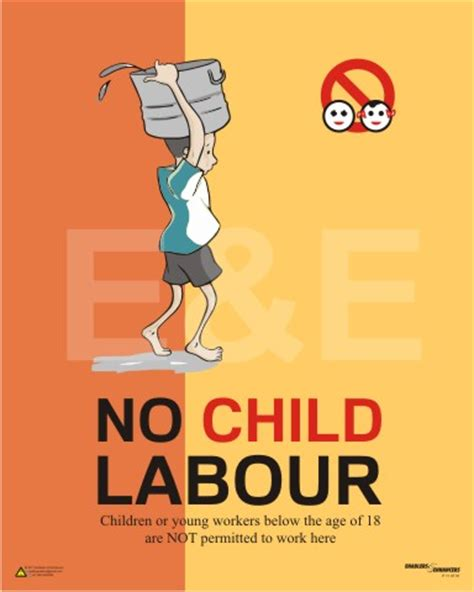 Handmade Poster On Child Labour - no child labor protection of child rights