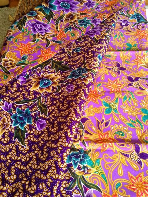 fabric design of indonesia floral batik sarong on etsy etsy batik fabrics from