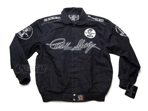 mustang black shelby mustang twill racing jacket free