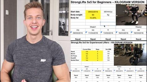 uitleg trainingsschema  stronglifts youtube