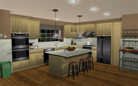 kitchen design with turbocad home architect 3d modern house