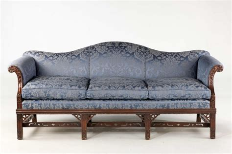 Antique Camel Back Sofa by Chippendale Style Mahogany Framed Camel Back Sofa 355902