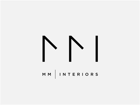 mm interiors logo design by dimiter petrov dribbble