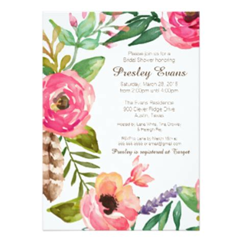flower invitations templates free floral invitations announcements zazzle