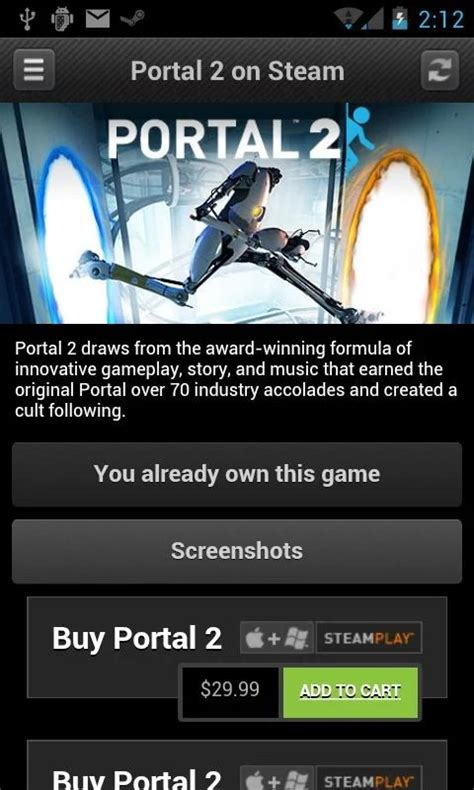 steam on android valve updates steam for android with partial material design ui new features