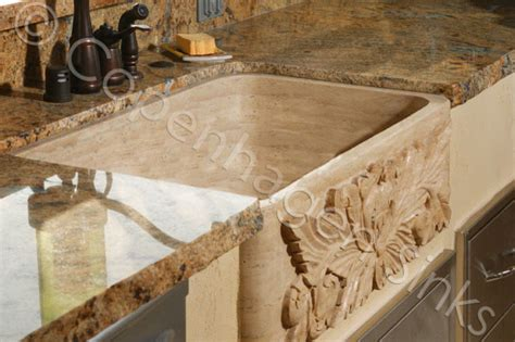 kitchen stone farm sink beige travertine single bowl farmhouse sink contemporary kitchen