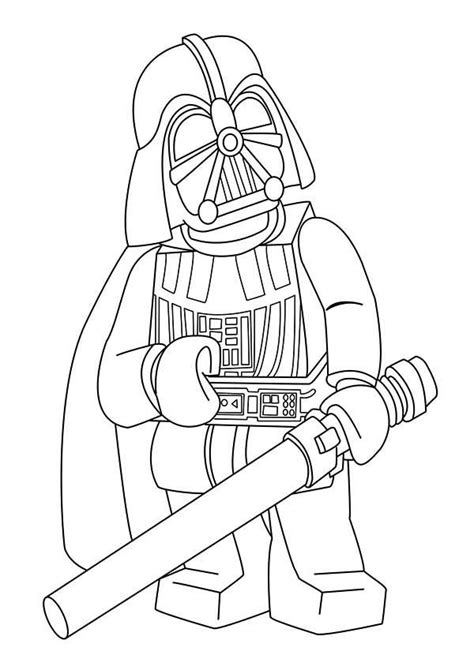 cartoon of darth vader in star wars coloring page batch