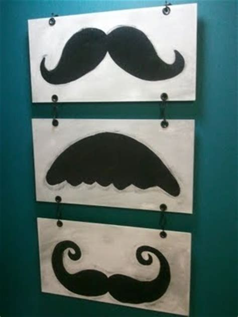 the mustache wall bedroom