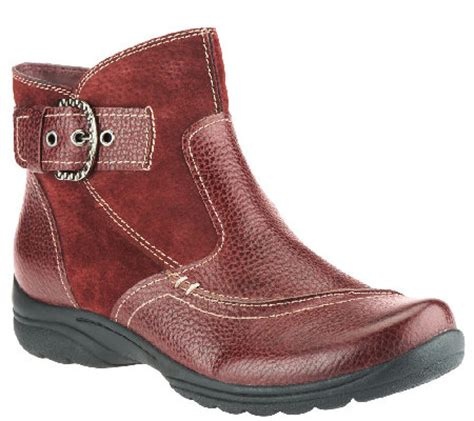 earth origins boots earth origins leather suede ankle boots w buckle