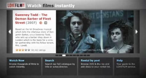 film streaming services uk uk streaming movie service lovefilm heads to ps3 slashgear