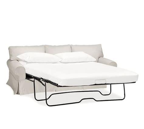 pottery barn pb basic sofa reviews pb basic slipcovered sleeper sofa with robin mattress