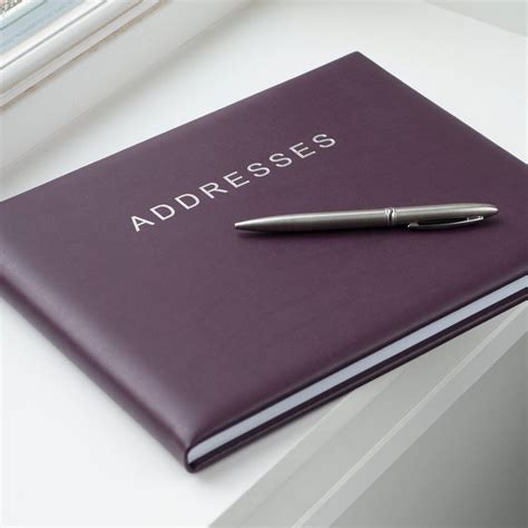 Address Book Personalised Leather Address Book By Oh So Cherished Notonthehighstreet
