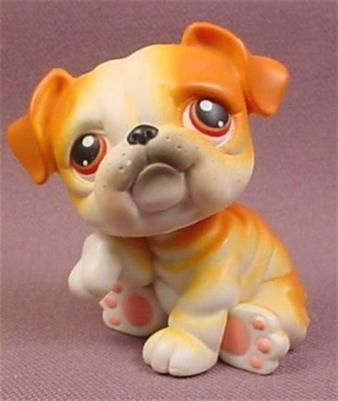 littlest pet shop puppy littlest pet shop 46 orange brown white bulldog puppy with