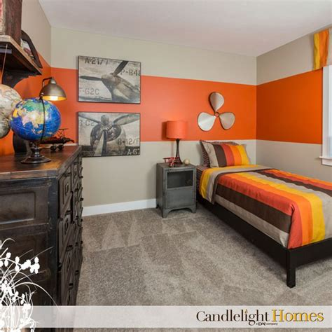 orange bedroom candlelight homes utah bedroom kids room tan carpet orange bedroom boys room striped