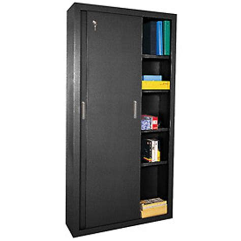 cabinets storage sandusky sliding door counter height