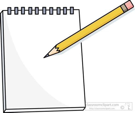 armed with a pad of paper and pencil she began to survey her neighbors notebook clipart clipart suggest