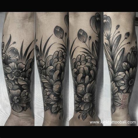 best tattoo kuta bali black work ornament kink tattoo bali
