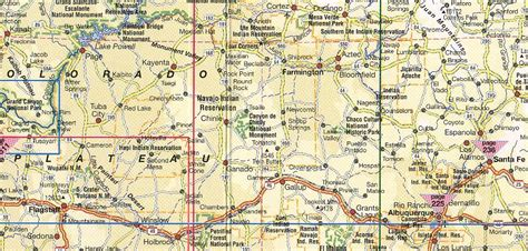 map us southwest southwest usa road map my