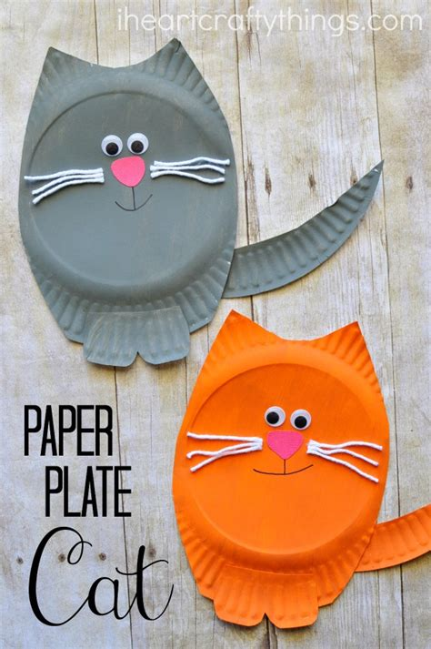 Simple Crafts With Paper Plates - paper plate cat craft cat crafts and paper plate crafts