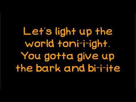 Light Them Up Lyrics by Glee Light Up The World Lyrics On Screen