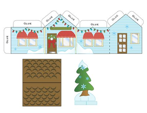 Paper Houses Craft - free printables gift tags gift ideas