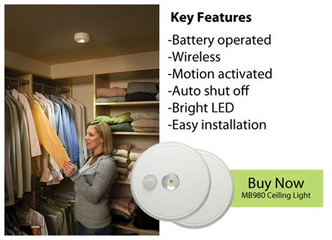 Mr Beams Closet Light by Bright Ideas Mr Beams Wireless Lighting Wireless