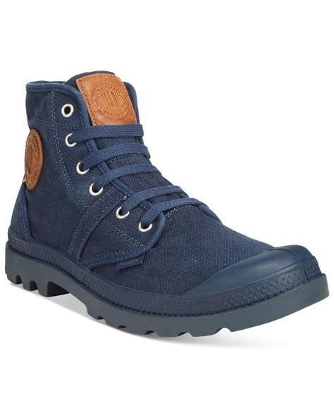 palladium boots mens palladium s pallabrouse boots in blue for lyst
