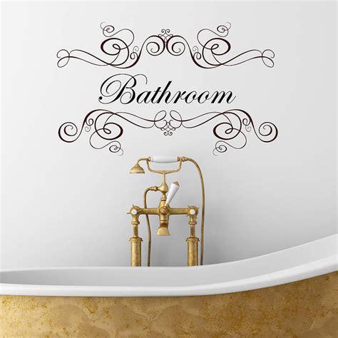 Boudoir or salle de bain wall sticker by nutmeg notonthehighstreet com