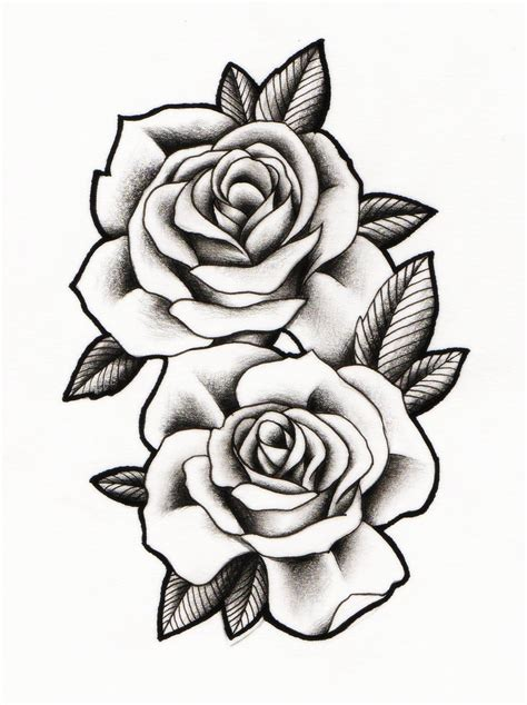 rose bud tattoo images flower drawing www pixshark images